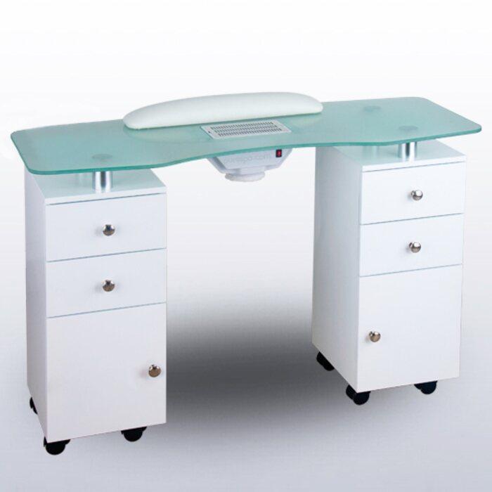 Nail salon chair - White Manicure Table Salon Nail Tables Manicure Tables