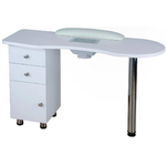 Eliza Wood Topped Manicure Table - Single Column (60001B)