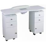 Ella Wood Topped Manicure Table - Double Column (60002b)