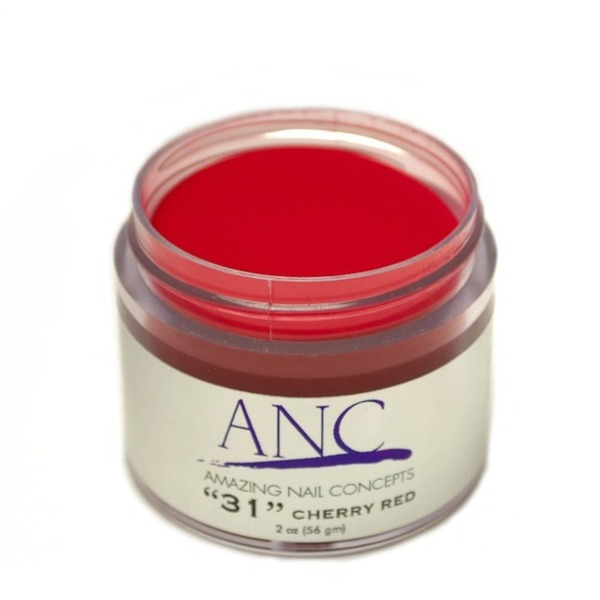 ANC Dip Powder - Cherry Red #31 2 oz. - part of the ANC Acrylic Nails Dipping System (ANCCP031)