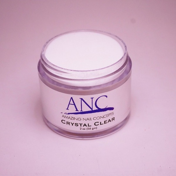 ANC Dip Powder - Crystal Clear 2 oz. - part of the ANC Acrylic Nails Dipping System (ANCCC)