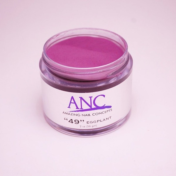 ANC Dip Powder - Eggplant #49 2 oz. - part of the ANC Acrylic Nails Dipping System (ANCCP049)