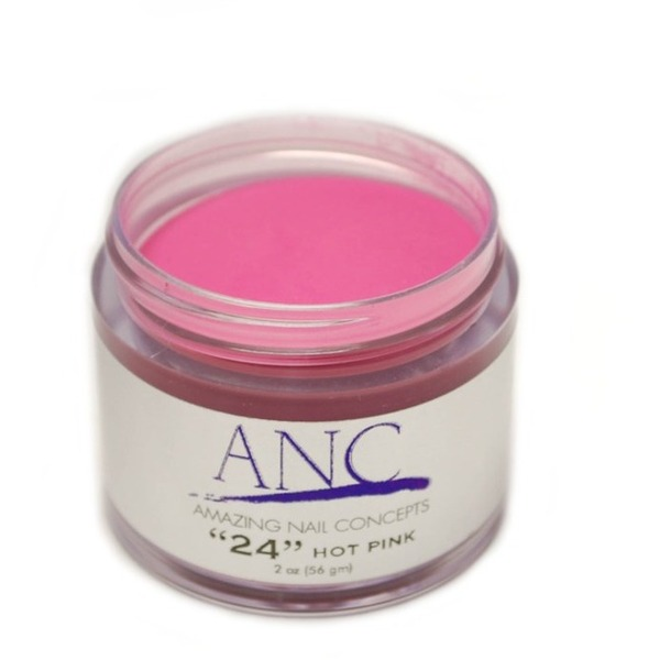 ANC Dip Powder - Hot Pink #24 2 oz. - part of the ANC Acrylic Nails Dipping System (ANCCP024)