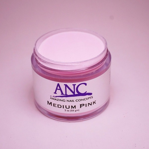 ANC Dip Powder - Medium Pink 2 oz. - part of the ANC Acrylic Nails Dipping System (ANCMP)