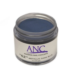 ANC Dip Powder - Metallic Dark Blue #62 2 oz. - part of the ANC Acrylic Nails Dipping System (ANCCP062)