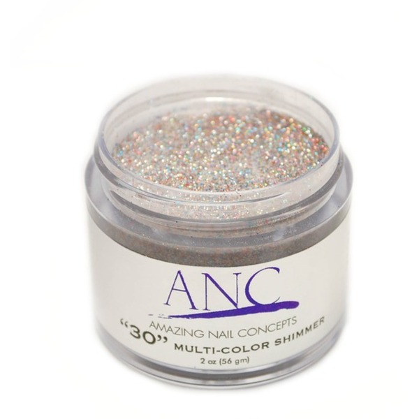 ANC Dip Powder - Multicolor Shimmer #30 2 oz. - part of the ANC Acrylic Nails Dipping System (ANCCP030)