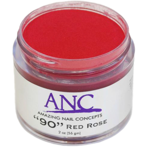 ANC Dip Powder - Red Rose #90 2 oz. - part of the ANC Acrylic Nails Dipping System (ANCCP090)