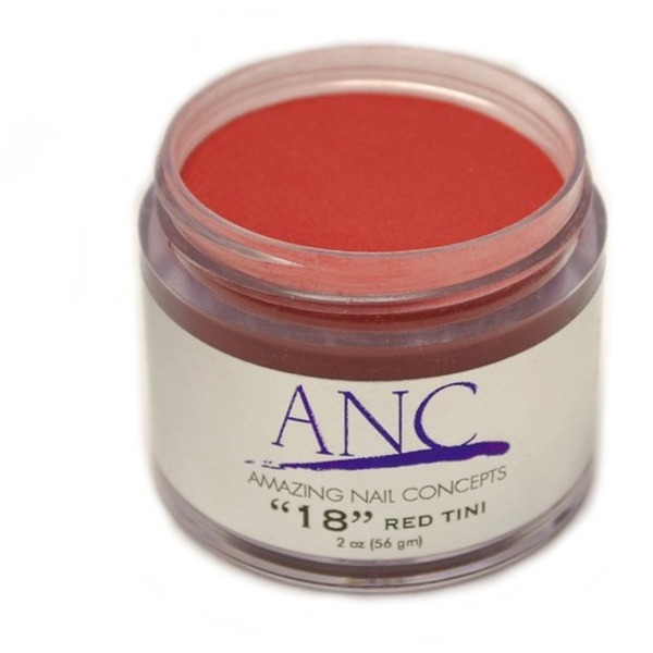 ANC Dip Powder - Red Tini #18 2 oz. - part of the ANC Acrylic Nails Dipping System (ANCCP018)