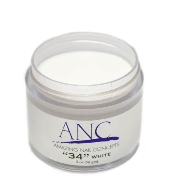 ANC Dip Powder - White #34 2 oz. - part of the ANC Acrylic Nails Dipping System (ANCCP034)