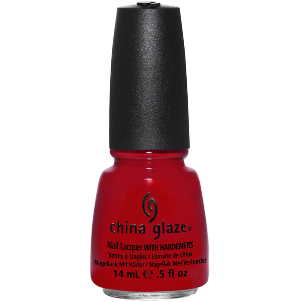 China Glaze Lacquer - RED SATIN 0.5 oz. - #1111 (CG1111)