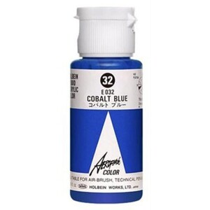 Aeroflash Liquid Acrylic Airbrush Nail Color - COBALT BLUE #32 1.18 oz. (4900669060321)
