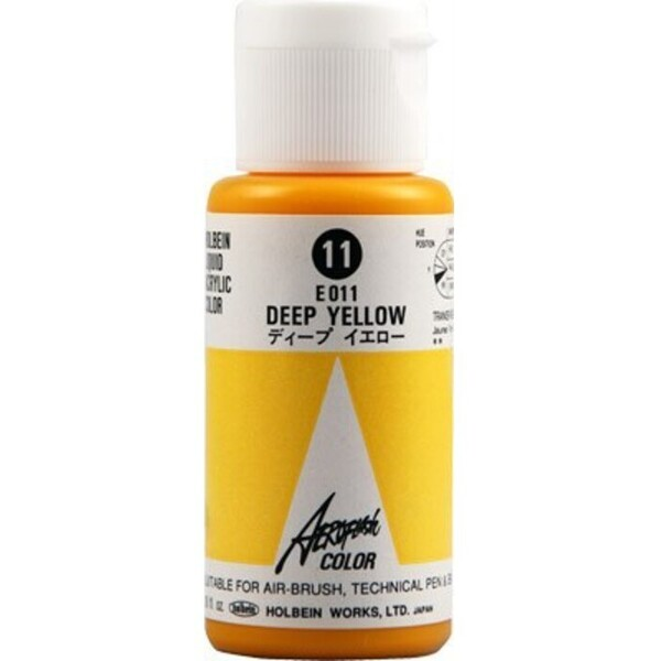 Aeroflash Liquid Acrylic Airbrush Nail Color - DEEP YELLOW #11 1.18 oz. (4900669060116)