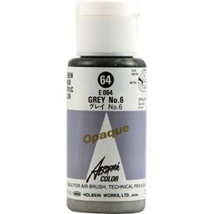 Aeroflash Liquid Acrylic Airbrush Nail Color - GREY-6 #64 1.18 oz. (4900669060642)