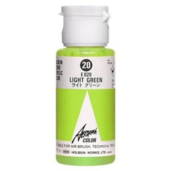 Aeroflash Liquid Acrylic Airbrush Nail Color - LIGHT GREEN #20 1.18 oz. (4900669060208)