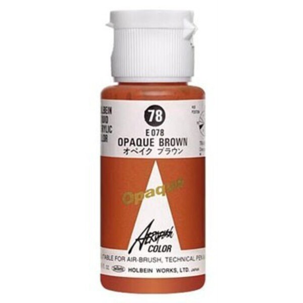 Aeroflash Liquid Acrylic Airbrush Nail Color - OPAQUE BROWN #78 1.18 oz. (4900669060789)