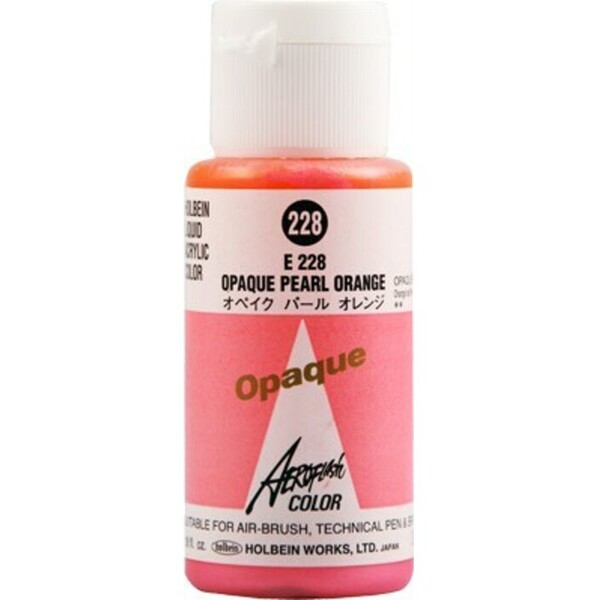 Aeroflash Liquid Acrylic Airbrush Nail Color - OPAQUE PEARL ORANGE #228 1.18 oz. (4900669062288)