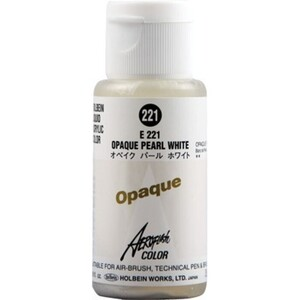 Aeroflash Liquid Acrylic Airbrush Nail Color - OPAQUE PEARL WHITE #221 1.18 oz. (4900669062219)