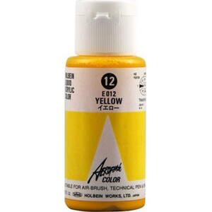 Aeroflash Liquid Acrylic Airbrush Nail Color - YELLOW #12 1.18 oz. (4900669060123)