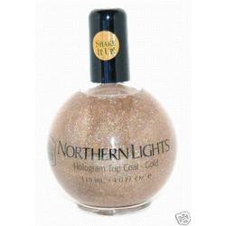 Northern Lights Hologram Top Coat-Gold 2.5 oz. (670387000223)