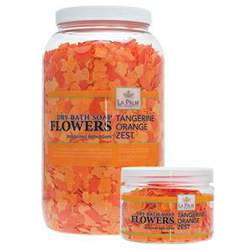 La Palm Bath Flowers - Tangerine - Dissolving Pedi Bath Soap 1 Gallon (0815432013470)