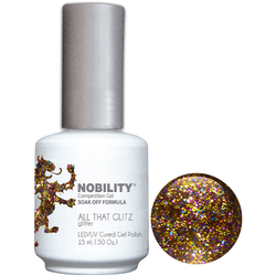 Nobility Color LEDUV Cured Gel Polish - All That Glitz 0.5 oz (NBGP72)