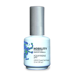 Nobility Color LEDUV Cured Gel Polish - Aquamarine 0.5 oz (NBGP111)
