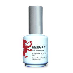 Nobility Color LEDUV Cured Gel Polish - Arizona Sunset 0.5 oz (NBGP97)
