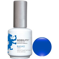 Nobility Color LEDUV Cured Gel Polish - Blue Jazz 0.5 oz (NBGP58)
