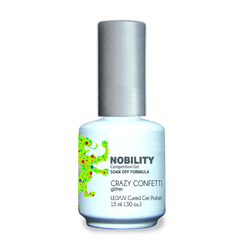 Nobility Color LEDUV Cured Gel Polish - Crazy Confetti 0.5 oz (NBGP108)