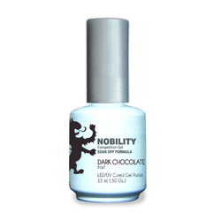 Nobility Color LEDUV Cured Gel Polish - Dark Chocolate 0.5 oz (NBGP40)