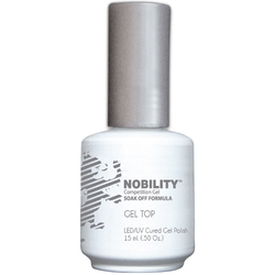 Nobility Color LEDUV Cured Gel Polish - Gel Top Coat 0.5 oz (NBGPT1)