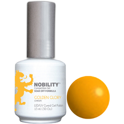Nobility Color LEDUV Cured Gel Polish - Golden Glory 0.5 oz (NBGP19)