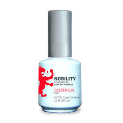 Nobility Color LEDUV Cured Gel Polish - Golden Sun 0.5 oz (NBGP44)