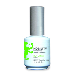 Nobility Color LEDUV Cured Gel Polish - Hot Green 0.5 oz (NBGP56)