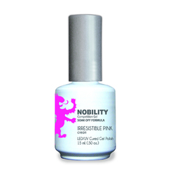 Nobility Color LEDUV Cured Gel Polish - Irresistible Pink 0.5 oz (NBGP100)