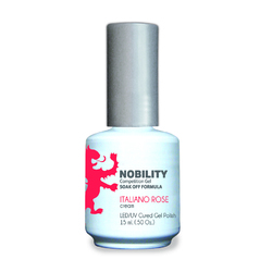 Nobility Color LEDUV Cured Gel Polish - Italiano Rose 0.5 oz (NBGP33)