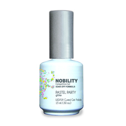 Nobility Color LEDUV Cured Gel Polish - Pastel Party 0.5 oz (NBGP110)