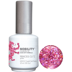 Nobility Color LEDUV Cured Gel Polish - Princess Glitz 0.5 oz (NBGP71)