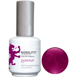 Nobility Color LEDUV Cured Gel Polish - Sugar Plum 0.5 oz (NBGP17)