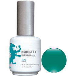 Nobility Color LEDUV Cured Gel Polish - Teal 0.5 oz (NBGP52)
