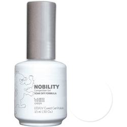 Nobility Color LEDUV Cured Gel Polish - White 0.5 oz (NBGP01)