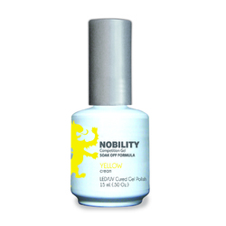 Nobility Color LEDUV Cured Gel Polish - Yellow 0.5 oz (NBGP53)