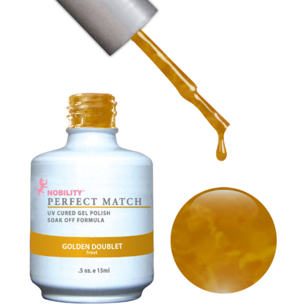 PERFECT MATCH - Soak Off Gel Polish + Lacquer - GOLDEN DOUBLET (PMS22)