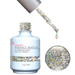 PERFECT MATCH - Soak Off Gel Polish + Lacquer - HOLOGRAM DIAMOND (PMS59)