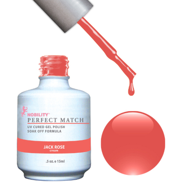 PERFECT MATCH - Soak Off Gel Polish + Lacquer - JACK ROSE (PMS11)