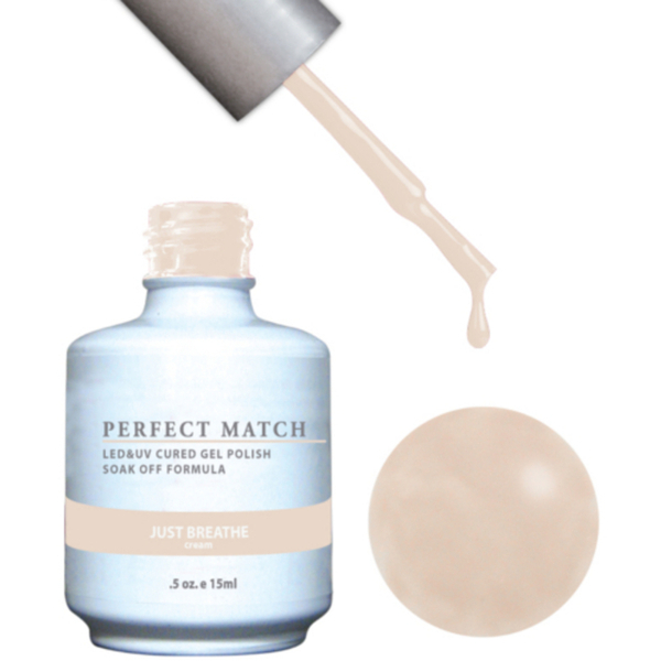 PERFECT MATCH - Soak Off Gel Polish + Lacquer - JUST BREATHE (PMS111)
