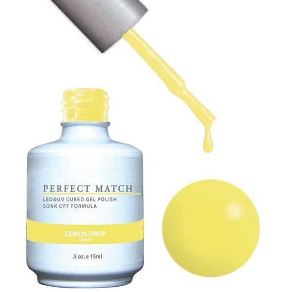 PERFECT MATCH - Soak Off Gel Polish + Lacquer - LEMON DROP (PMS118)