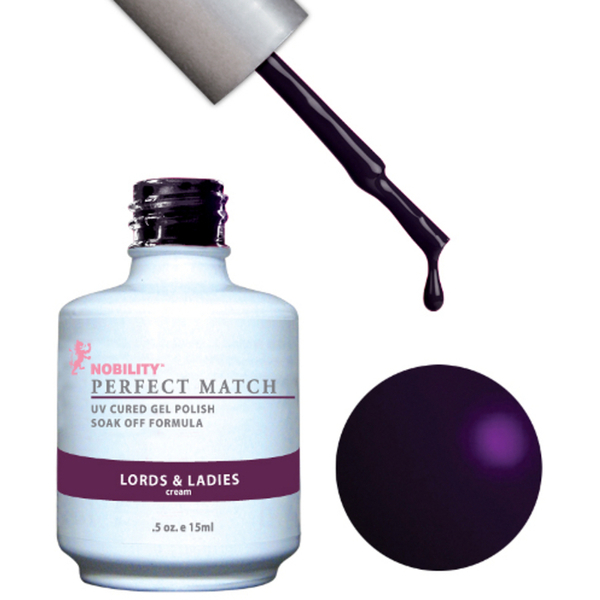 PERFECT MATCH - Soak Off Gel Polish + Lacquer - LORDS & LADIES (PMS78)