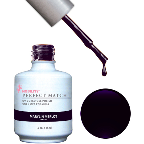 PERFECT MATCH - Soak Off Gel Polish + Lacquer - MARILYN MERLOT (PMS04)