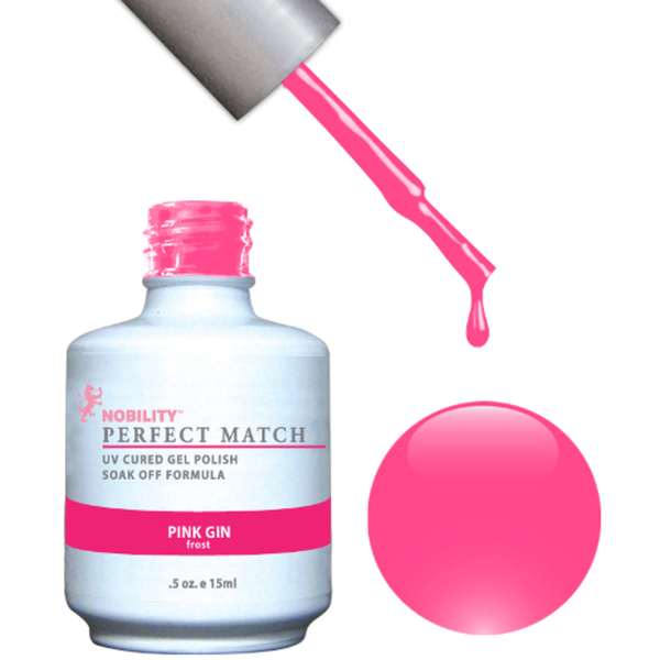 PERFECT MATCH - Soak Off Gel Polish + Lacquer - PINK GIN (PMS26)